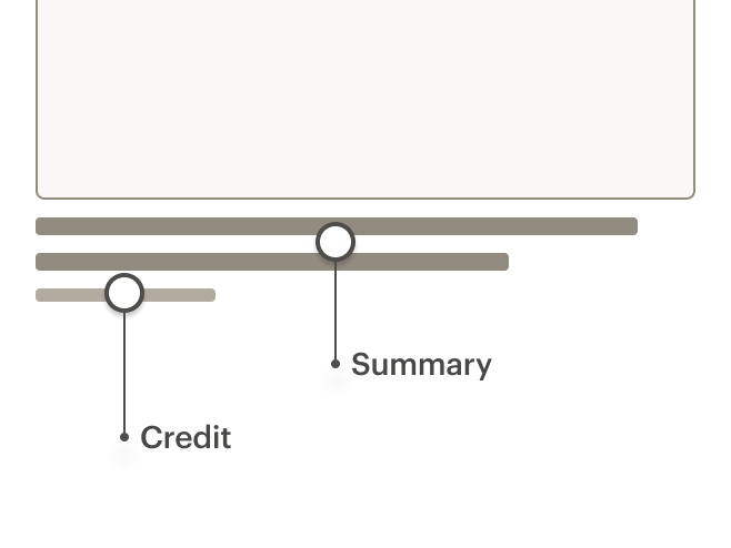 Image showing proper use of summary and credit separation.