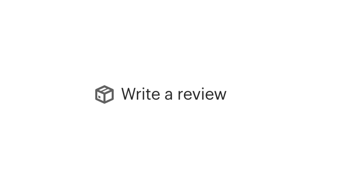 box icon by text which reads 'write a review'